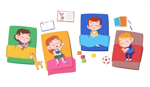 Kinderen dutje slapen