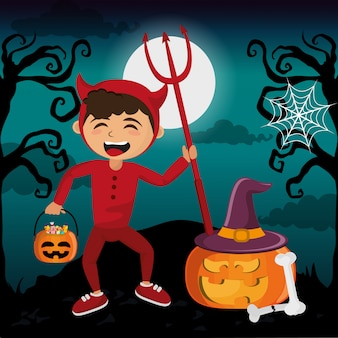 Kinderen en halloween