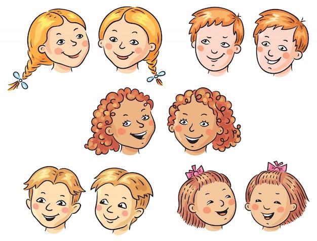 Kinderen gezichten