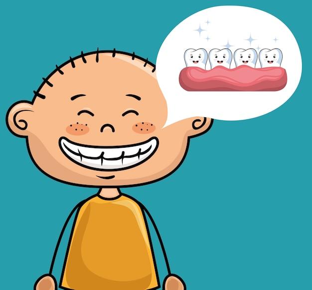 Kinderen glimlach tandheelkundige gezondheidszorg pictogram