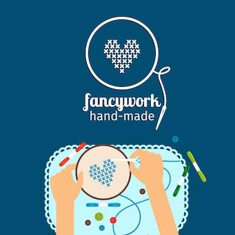Kinderen handgemaakte illustratie. fraaie handwerken