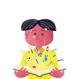 Kinderen illustratie ontwerp