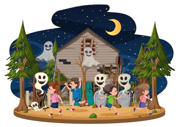 Kinderen in het spookhuis