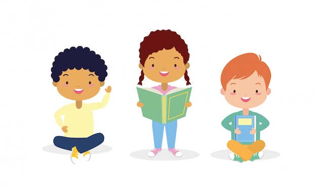 Kinderen in kid in world book day