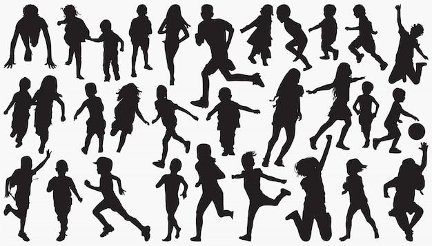 Kinderen kinderen silhouet