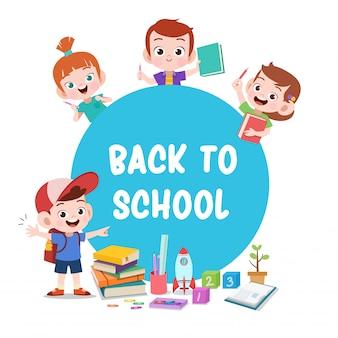 Kinderen klaar om naar school te gaan