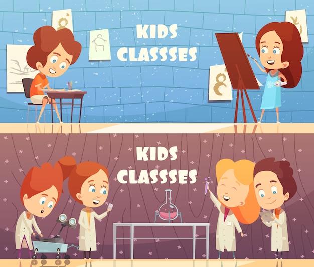 Kinderen klassen horizontale banners