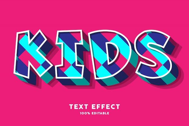 Kinderen kleurrijk teksteffect