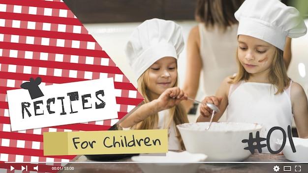 Kinderen koken youtube thumbnail