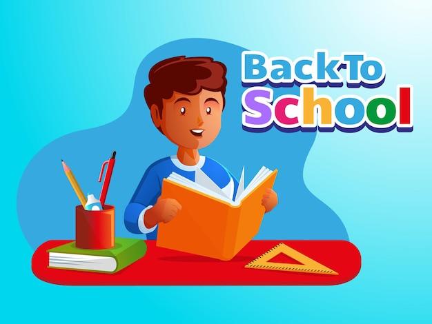 Kinderen leren boeken lezen terug naar school