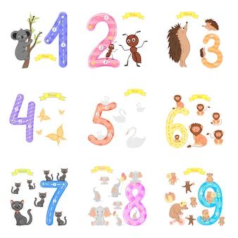 Kinderen leren tellen en schrijven