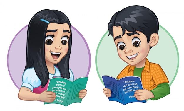 Kinderen lezen van boeken