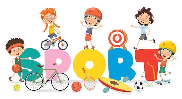 Kinderen maken van sport