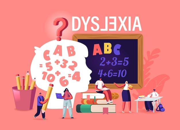 Kinderen met een dyslexiestoornis studeren op een speciale school
