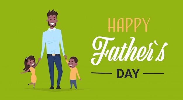 Kinderen met hun vader