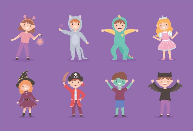 Kinderen met kostuums