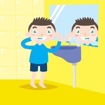 Kinderen mondgezondheid campagne poster ontwerpserie