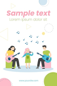 Kinderen muziekband illustratie