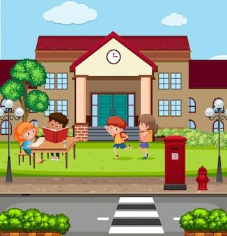 Kinderen op de school