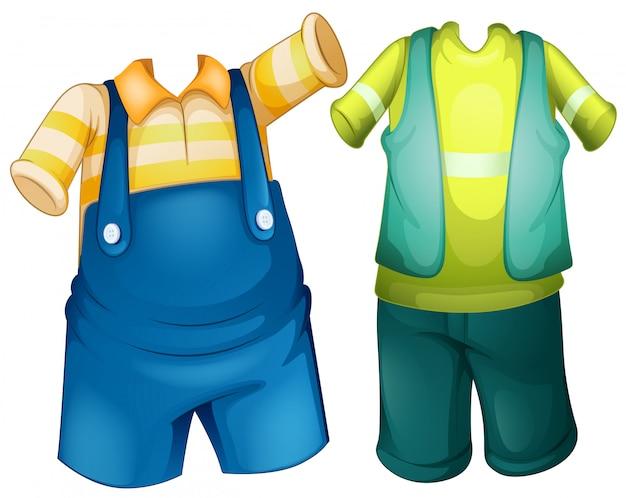 Kinderen outfit set Gratis Vector