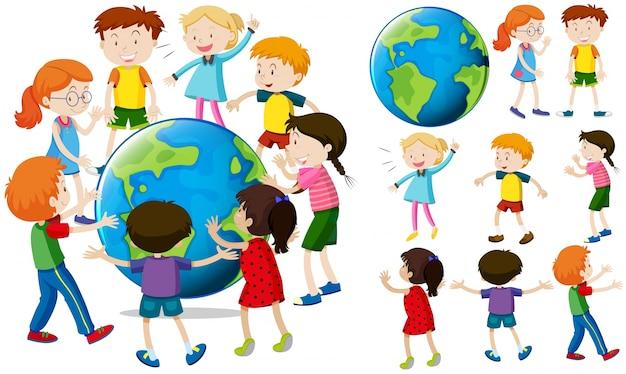 Kinderen over de hele wereld