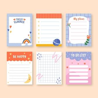 Kinderen plakboek en notitiesjablonen