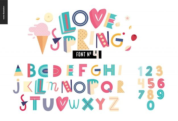 Kinderen platte alfabet set