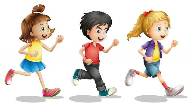 Kinderen rennen