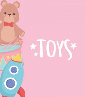 Kinderen speelgoed achtergrond