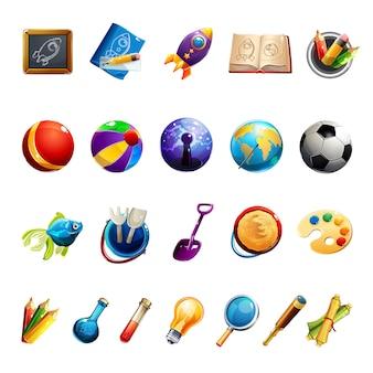 Kinderen speelgoed en objecten