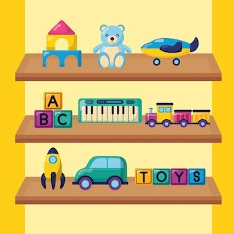 Kinderen speelgoed illustratie