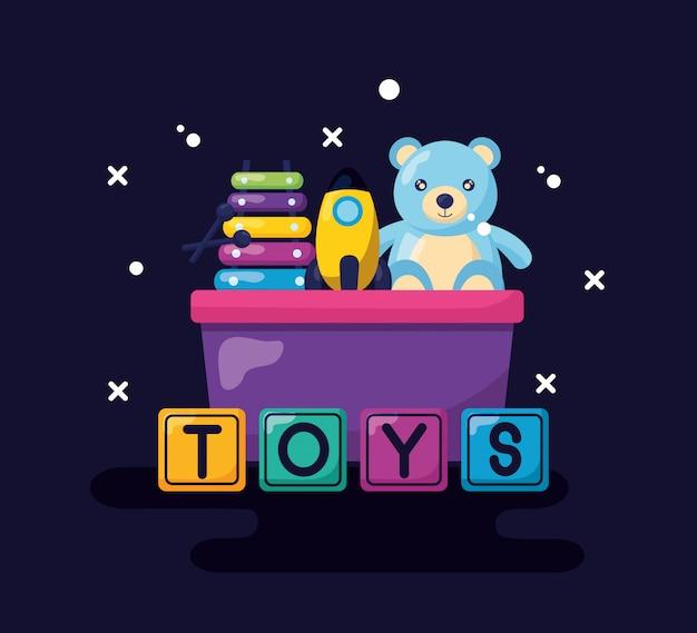 Kinderen speelgoed ontwerp