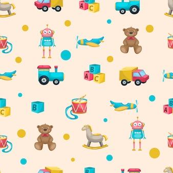 Kinderen speelgoed patroon