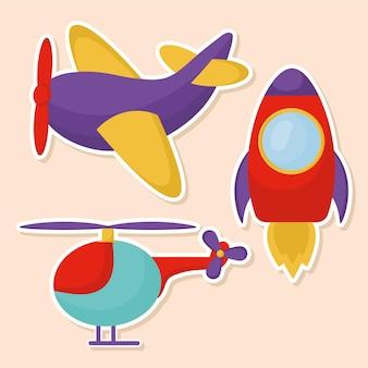 Kinderen speelgoed, stickers set