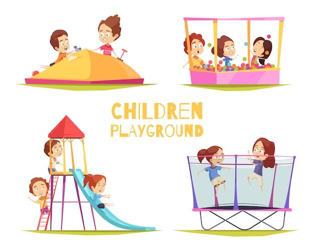 Kinderen speelplaats ontwerpconcept