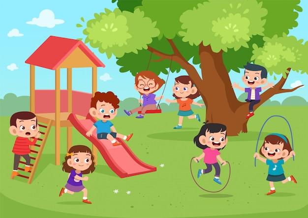 Kinderen speelplaats samen