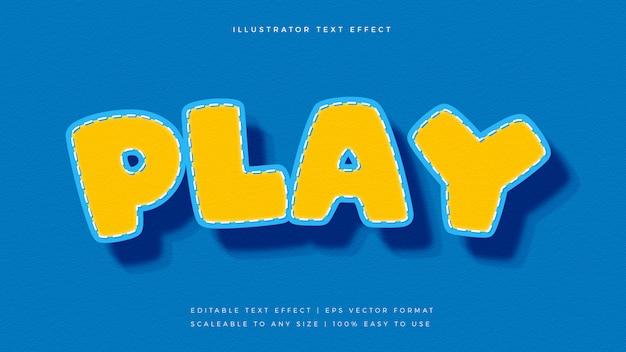 Kinderen speelse komische tekststijl lettertype-effect