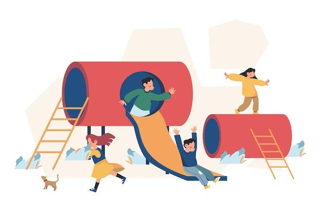 Kinderen spelen in de kleuterschool