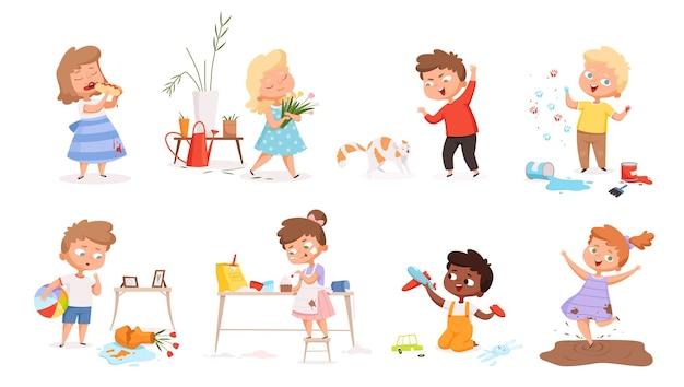Kinderen spelen van spelletjes