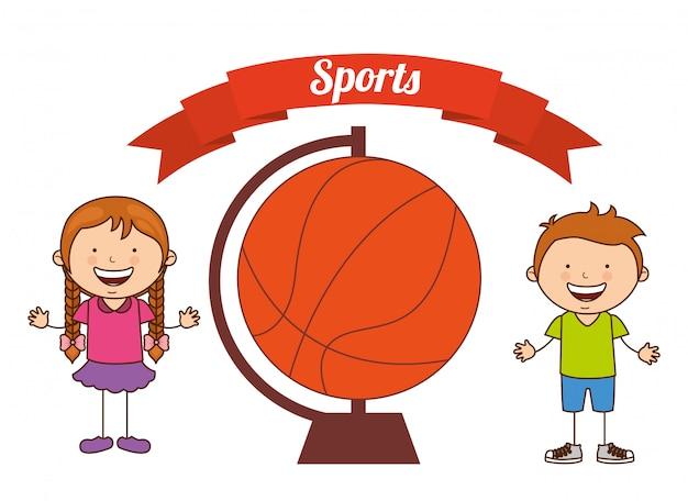 Kinderen sporten