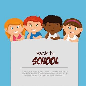 Kinderen terug naar school ontwerp