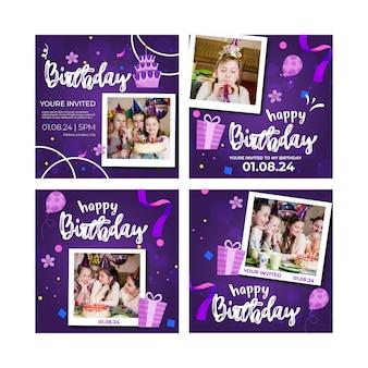 Kinderen verjaardag instagram-berichten