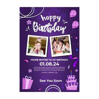 Kinderen verjaardag poster