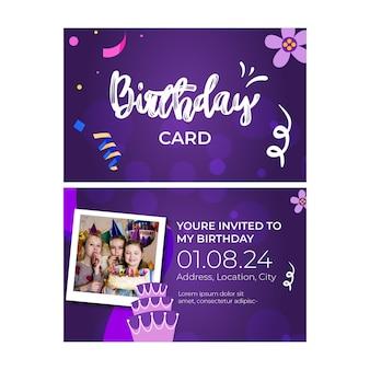 Kinderen verjaardagskaart