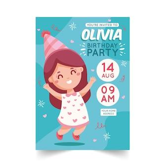 Kinderen verjaardagsuitnodiging