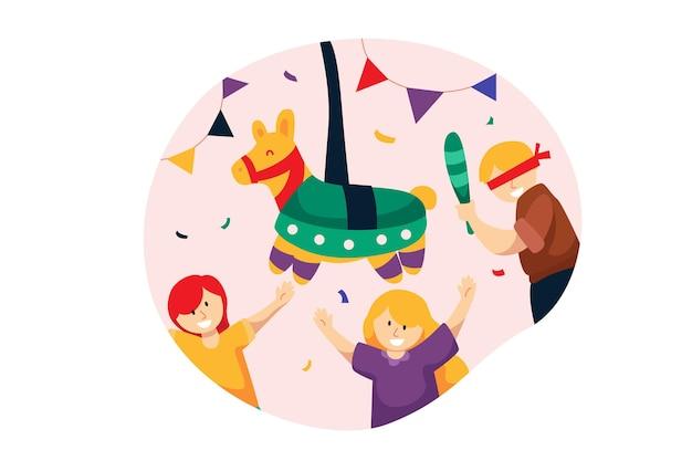 Kinderen vieren posada