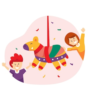 Kinderen vieren posadas