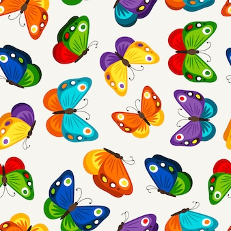 Kinderen vlinder naadloze patroon. vector mode vlinders behang voor kind