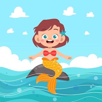 Kinderen zeemeermin