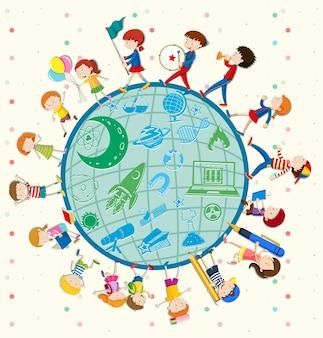 Kinderen zijn dol op wetenschap over de hele wereld